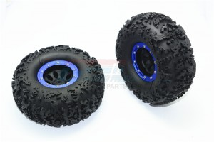 "2.2"" RUBBER RALLY TIRES AND PLASTIC WHEELS -2PC SET 	 - AW2206F/RA45-B"
