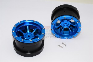 ALUMINIUM 6 POLES BEADLOCK & NYLON WHEELS FRAME FOR 2.2' TIRE - 1PR - AW2206P-B