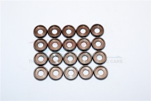 SPRING STEEL ID:3.0MM RING , OD:8.0MM , THK:0.6MM BUTTON FLANGED WASHER  - 20PC SET - B30OD80TK06-OC