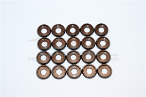 SPRING STEEL ID:4.0MM RING , OD:10.0MM , THK:0.6MM BUTTON HEAD FLANGED WASHER - 20PC SET - B40OD100TK06-OC