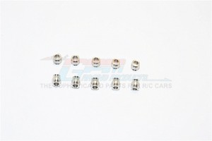 ALUMINIUM 5.8MM BALLS OF 3MM HOLE AND 6.0MM LONG - 10PCS - BALL58360-S