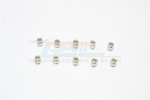 ALUMINIUM 5.8MM BALLS OF 3MM HOLE AND 7.0MM LONG - 10PCS - BALL58370-S
