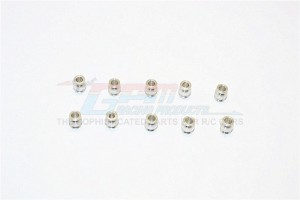 ALUMINIUM 5.8MM BALLS OF 3MM HOLE AND 7.3MM LONG - 10PCS - BALL58373-S