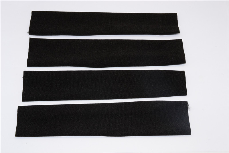 FABRIC SHOCK COVERS - PROTECTING  SHOCK SHAFT AND SEAL FROM ROAD  DEBRIS - 4PCS - BJSCO-BK