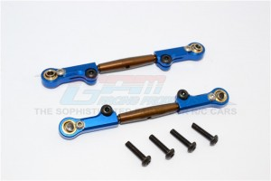 SPRING STEEL FRONT ADJUSTABLE TIE ROD  WITH ALLOY ENDS(4MM ANTI CROSS-THREAD,  TO EXTEND 73MM-80MM)  - BMT054A/ST-OC-BEB