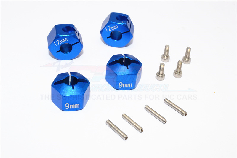 ALLOY HEX ADAPTER 12MM DIAMETER WITH  9MM THICKER-4PCS SET FOR GPM OPTIONAL  EXO WHEELS EX0503FR & E - BST010/12X9-B