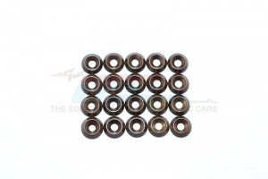 SPRING STEEL 2.5MM RING TILTED OD:7.8MM,TK:2.0MM COUNTERSINK SCREWS-20PCS SET - C25OD78TK20-OC