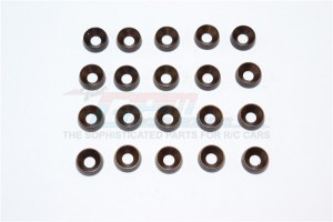 SPRING STEEL 4.0MM RING TILTED OD:10.0MM,TK:3.0MM COUNTERSINK SCREWS-20PCS SET - C40OD100TK30-OC