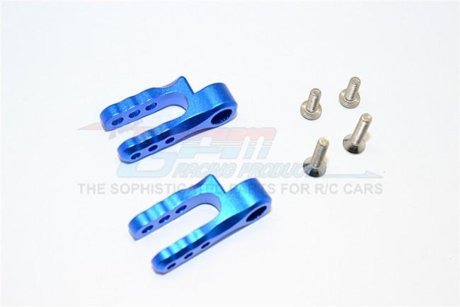GPM Racing Aluminium Steering Servo Holder - 1pr Set Blue