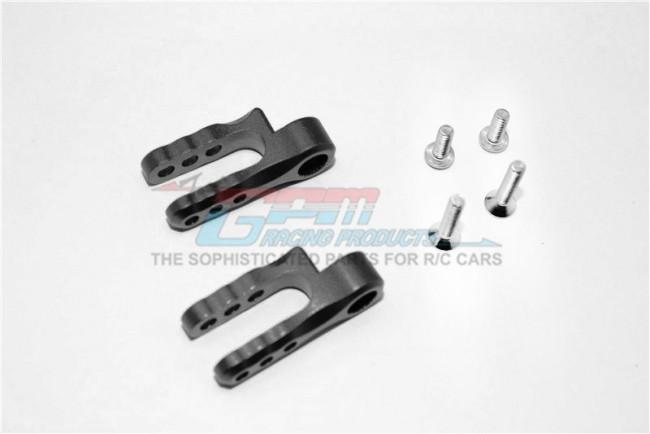 GPM Racing Aluminium Steering Servo Holder - 1pr Set Black