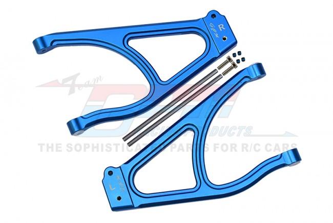 GPM Racing Aluminum Rear Upper Suspension Arm -10pc Set Blue
