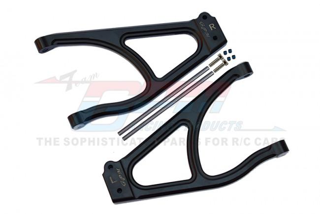 GPM Racing Aluminum Rear Upper Suspension Arm -10pc Set Black