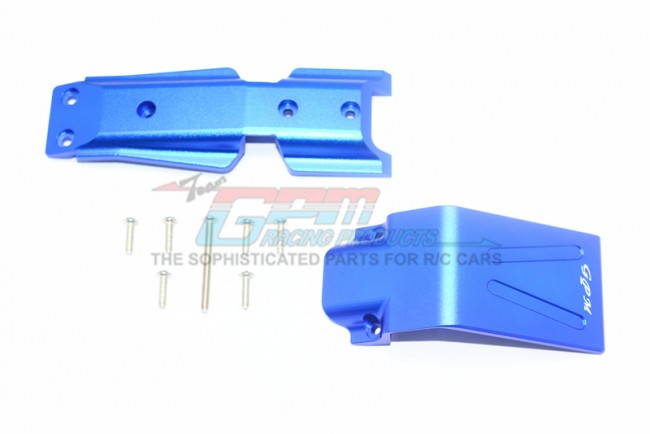 GPM Racing Aluminum Front Skid Plate -9pc Set Blue