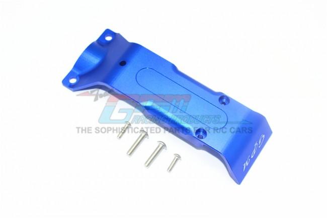 GPM Racing Aluminum Rear Skid Plate -5pc Set Blue