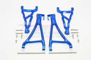 ALUMINIUM FRONT UPPER & LOWER SUSPENSION ARM - 4PCS SET (FOR E-REVO 560871, REVO, SUMMIT) - ER5455-B