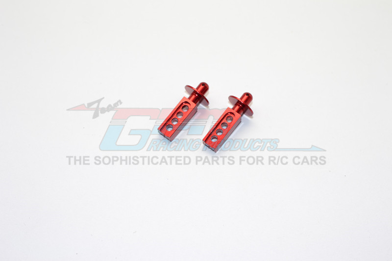 GPM Racing Alloy Front Body Post - 1pr Red