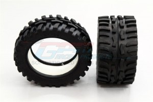 FRONT/REAR RUBBER RADIAL TIRE WITH  INSERT (40G) (OFFROAD DIRT HAWG PATTERN) - 1PR GPM OPTIONAL - ERV887F/R40G-OC