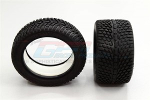 FRONT/REAR RUBBER RADIAL TIRE WITH  INSERT (40G) (ONROAD ARROW PATTERN) - 1PR  GPM OPTIONAL - ERV897F/R40G-OC