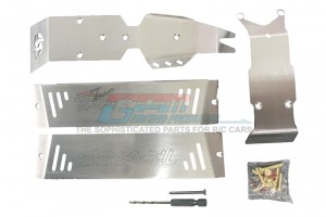 STAINLESS STEEL SKID PLATES FOR FRONT, CENTER, REAR CHASSIS -24PC SET - ERZSP1-OC