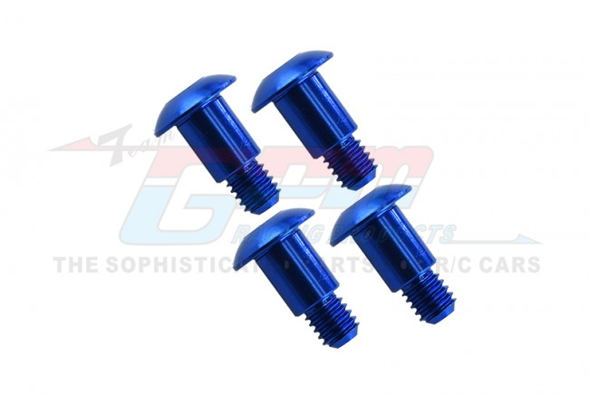 ALUMINIUM KING PIN (5MMX6.2MMXM4) - 4PCS  (FOR GF01 / TA01 / TA02 / TA03 / TL01) - GF004-B