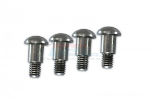 STAINLESS STEEL KING PIN (5MMX6.2MMXM4)  - 4PCS(FOR GF01, TA01, TA02, TA03, TL01) - GF004S-OC