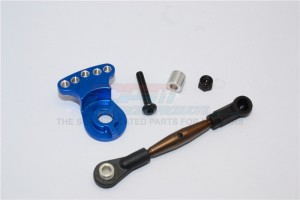 SPRING STEEL MODIFIED ANTI-THREAD  STEERING TIE ROD WITH SERVO HORN  - 2PCS SET - GF160STM-B