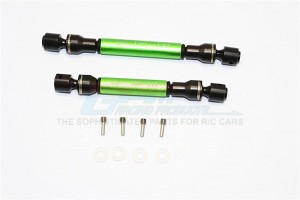 STEEL+ALUMINIUM FRONT & REAR MAIN DRIVE SHAFT (F:122MM-132MM, R:105MM-115MM) - 2PCS SET - GM237SA-B