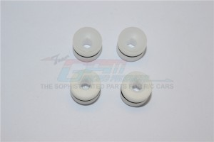 POM POLYOXYMETHYLENE FROMT CUPPED SEAT BALL THREADED COLLARS W/RUBBER O-RING - 4PC SET - KG021/DC-W