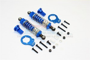 ALUMINIUM REAR ADJUSTABLE SPRING  DAMPER (75MM) & PROTECTOR MOUNT - 1PR SET - LB075R/PBT-B-S-BEBK