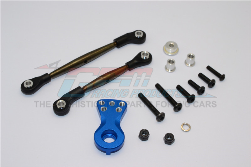 SPRING STEEL MODIFIED ANTI-THREAD STEERING TIE ROD WITH SERVO HORN - 1SET - LB160STM-B