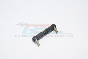STEEL SERVO TIE ROD WITH PLASTIC ENDS  - 1PC - LTX024A-OC-BEBK