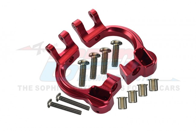 GPM Racing Aluminum Front C Hubs -12pc Set Red
