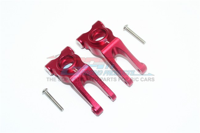 GPM Racing Aluminum Rear Knuckle Arm - 4pc Set Red