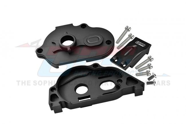 GPM Racing Aluminum Rear Gear Protection Motor Mount -10pc Set Black