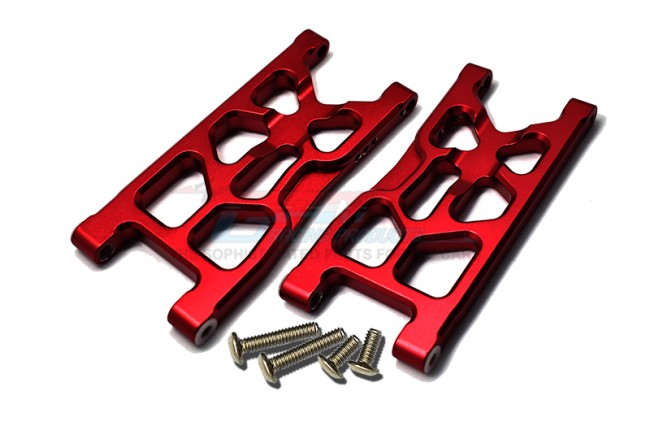 GPM Racing Aluminum Rear Lower Arms -6pc Set Red