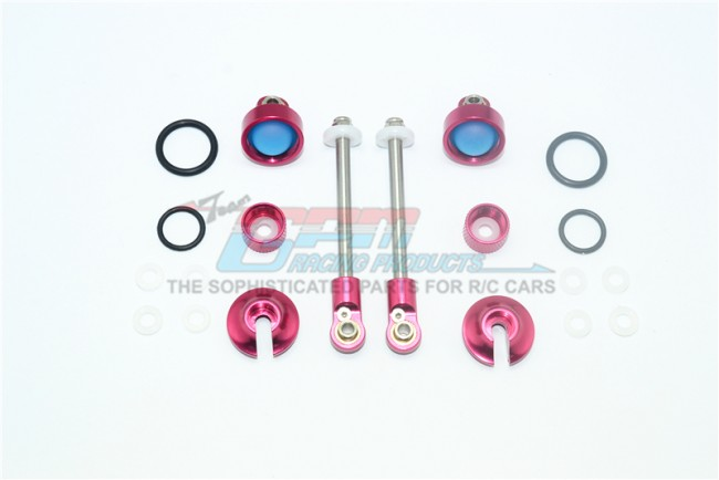 GPM Racing Alloy Rebild Kit For Mag102f Front Damper -20pc Set Red