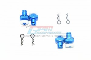 ALUMINUM FRONT & REAR MAGNETIC BODY POSTS -8PC SET - MAG201FRA-B