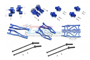 ALUMINUM F UPPER+LOWER ARMS, R LOWER ARMS, F+R KNUCKLE ARMS, CVD, 13MM HEX -56PC SET - MAK456212213-B