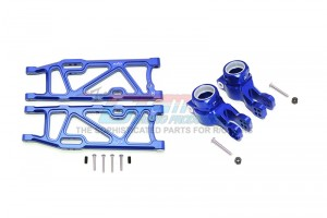 ALUMINUM REAR LOWER ARMS+REAR KNUCKLE ARMS  -14PC SET - MAK5622-B