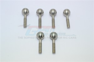 STAINLESS STEEL PILLOW BALL FOR REAR KNUCKLE ARMS- 6PC SET - MAN007SR-OC