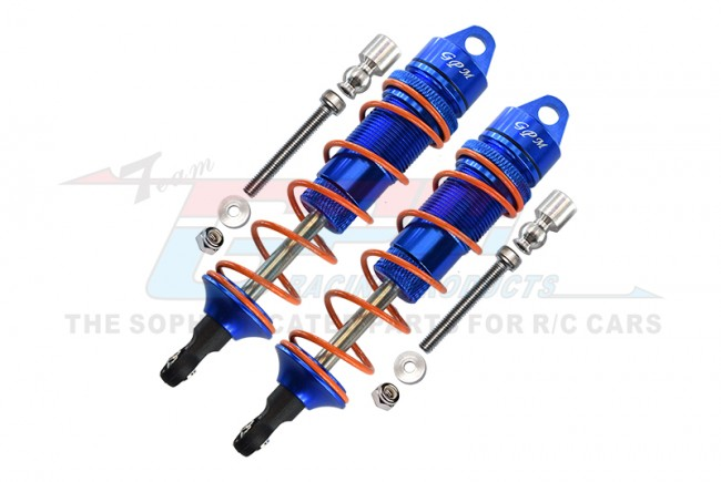 ALUMINUM REAR ADJUSTABLE DAMPERS 110MM-10PC SET - MAS110R-B-OR-BEBK