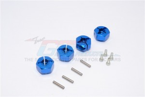 ALUMINIUM HEX ADAPTORS (12MM) - 4PCS SET (FOR WRAITH, SMT10 MONSTER JAM AX90055) - MJ010-B