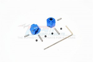 ALUMINIUM WHEEL HEX (+2MM) - 2PCS SET - MJ0102/+2MM-B