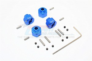 ALUMINIUM WHEEL HEX (+2MM) - 4PCS SET  - MJ0104/+2MM-B
