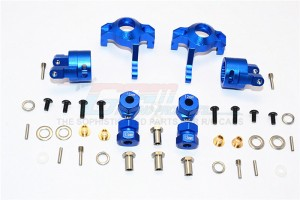 ALUMINIUM FRONT C-HUB & KNUCKLE ARM (5 DEGREE CASTER) - 4PCS SET (FOR RR10 BOMBER, WRAITH, WRAITH AX90045, SMT10 MONSTER JAM AX90055) - MJ019021/5D-B