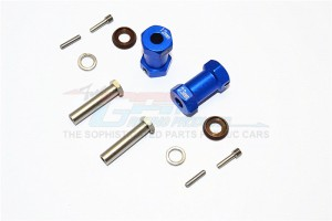ALUMINIUM WHEEL HEX ADAPTERS 23MM WIDTH (USE FOR 4MM THREAD WHEEL SHAFT & 5MM HOLE WHEEL) - 1PR SET - RR010/235-B
