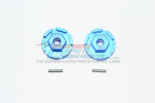 GPM Racing Aluminum Hex Adapter (+2mm) -4pc Set Blue