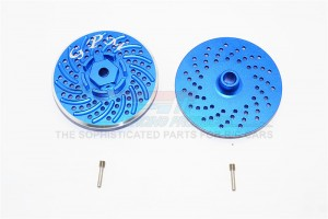 ALUMINIUM WHEEL HEX CLAW WITH BRAKE DISK - 2PCS SET - SAVF1010DISK-B