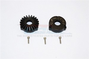 STEEL REAR DIFFERENTIAL OUTER GEARS - 1PR SET - SCC1200R/BG-BK