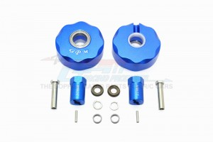ALUMINUM PENDULUM WHEEL KNUCKLE AXLE WEIGHT + 21MM HEX ADAPTER -14PC SET				 - SCX023-B